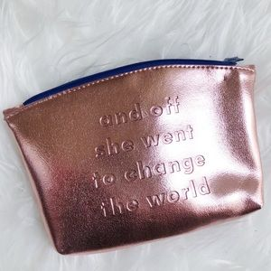 NEW rose gold embossed Ipsy makeup pouch